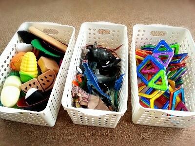 子どももできる、おもちゃ収納